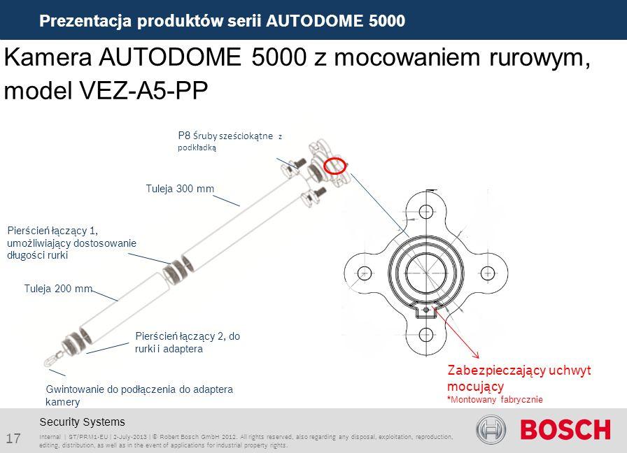Kamera AUTODOME 5000 z mocowaniem rurowym, model VEZ-A5-PP