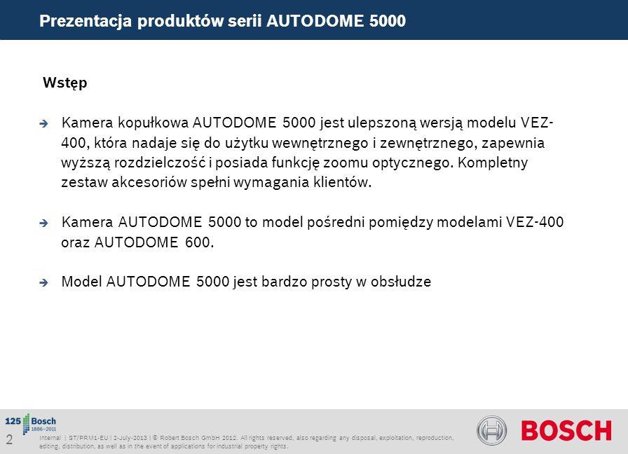 Prezentacja produktów serii AUTODOME 5000