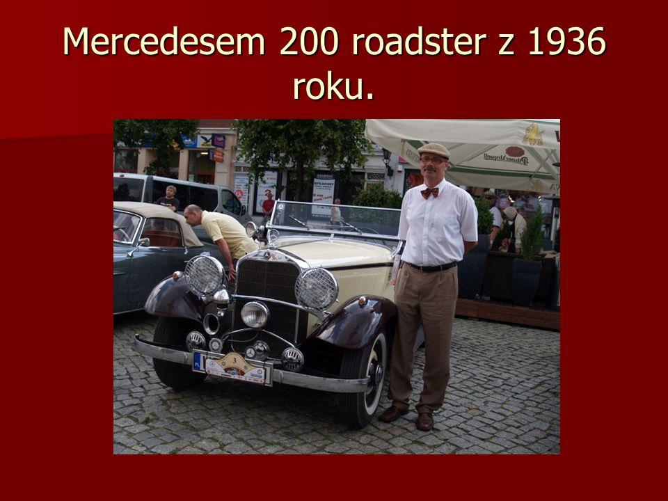 Mercedesem 200 roadster z 1936 roku.