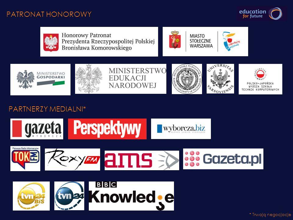 PATRONAT HONOROWY PARTNERZY MEDIALNI* Ministerstwo gospodarki,