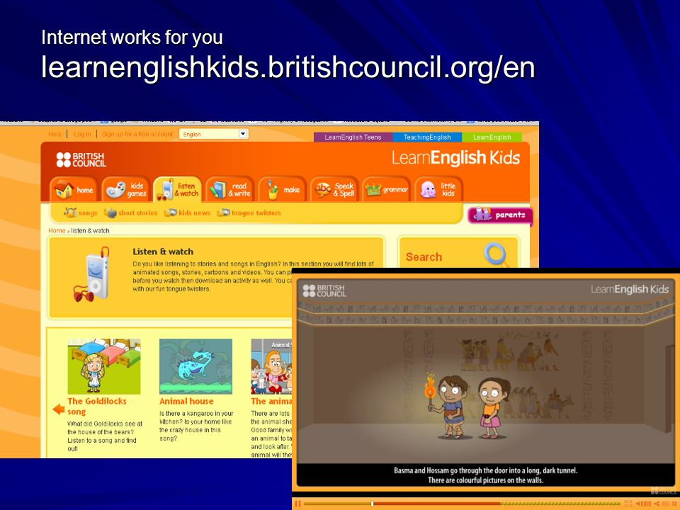 Internet works for you learnenglishkids.britishcouncil.org/en