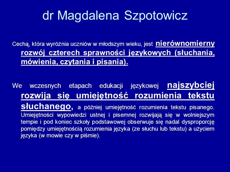 dr Magdalena Szpotowicz