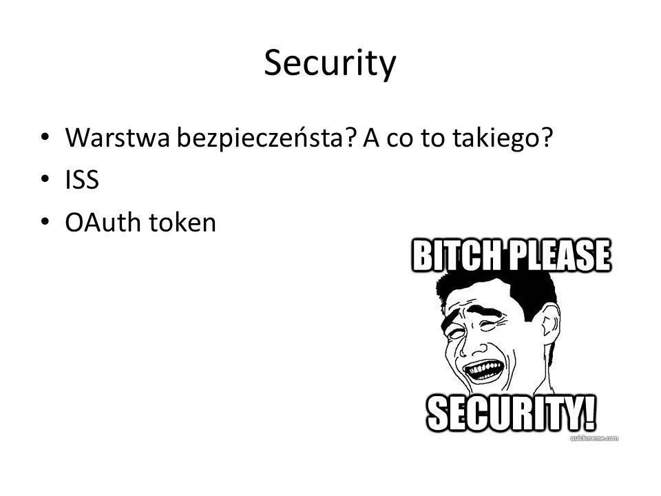Security Warstwa bezpieczeństa A co to takiego ISS OAuth token
