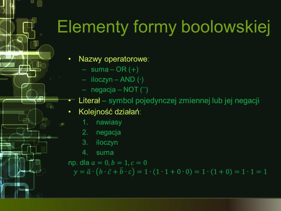 Elementy formy boolowskiej