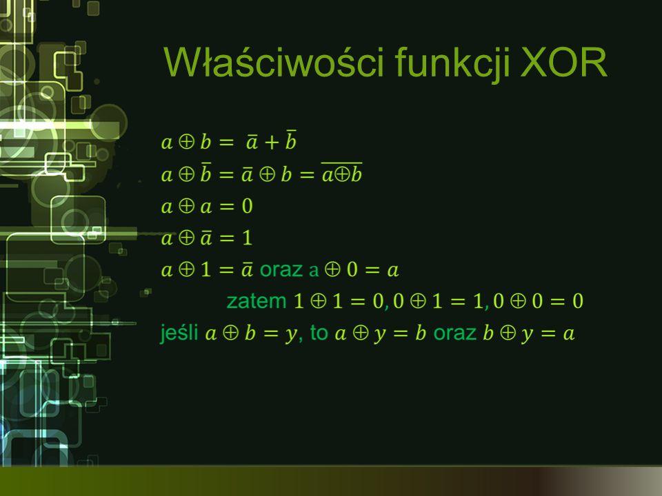 Właściwości funkcji XOR