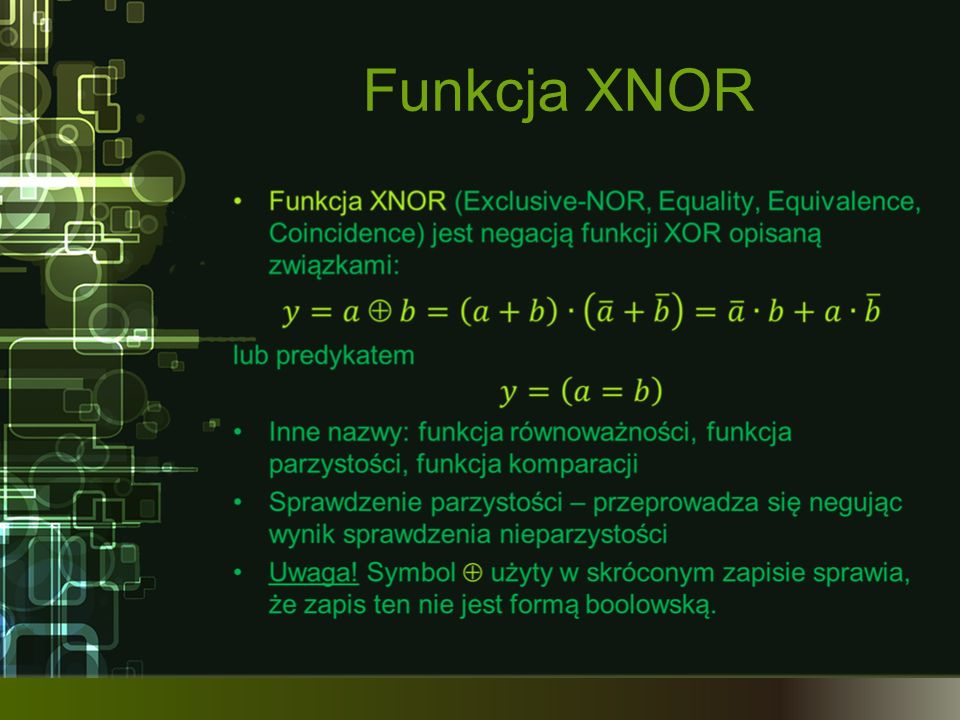Funkcja XNOR
