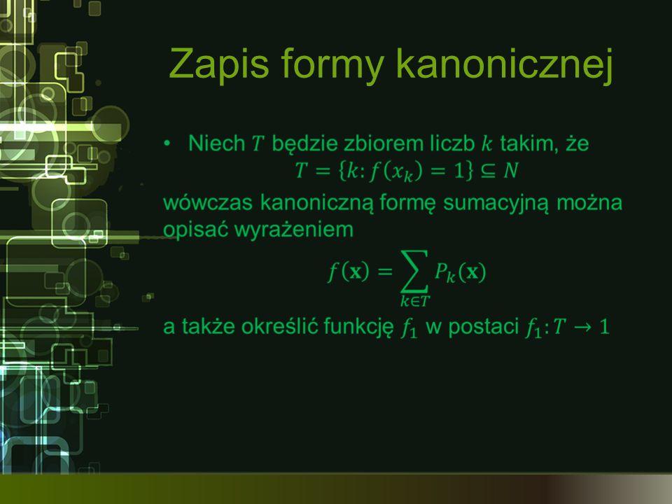 Zapis formy kanonicznej