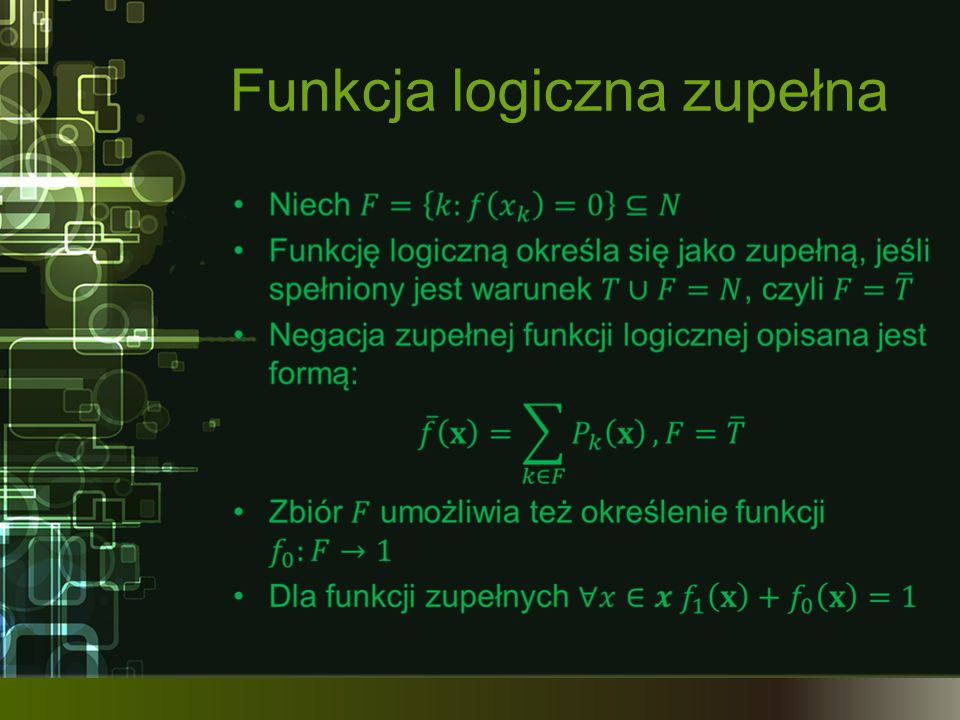 Funkcja logiczna zupełna