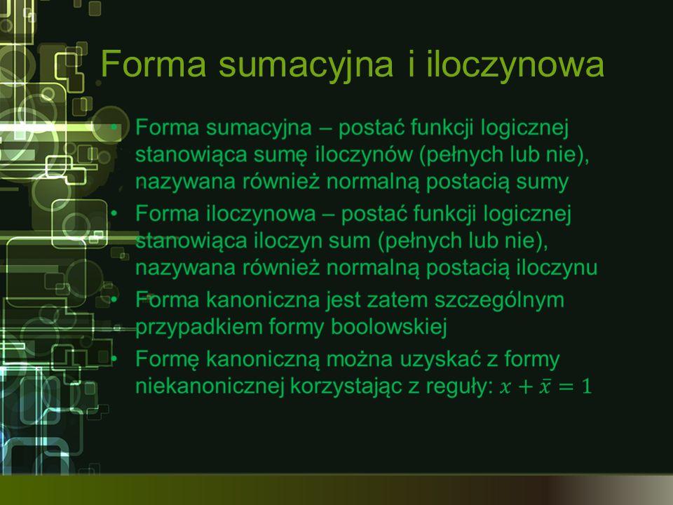 Forma sumacyjna i iloczynowa