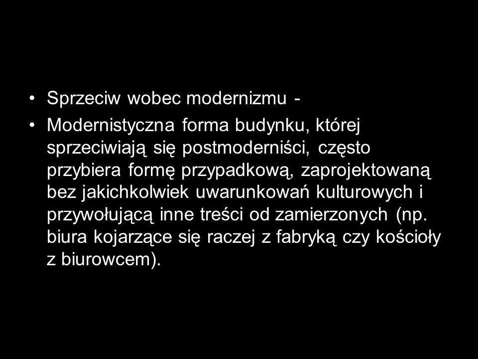 Sprzeciw wobec modernizmu -