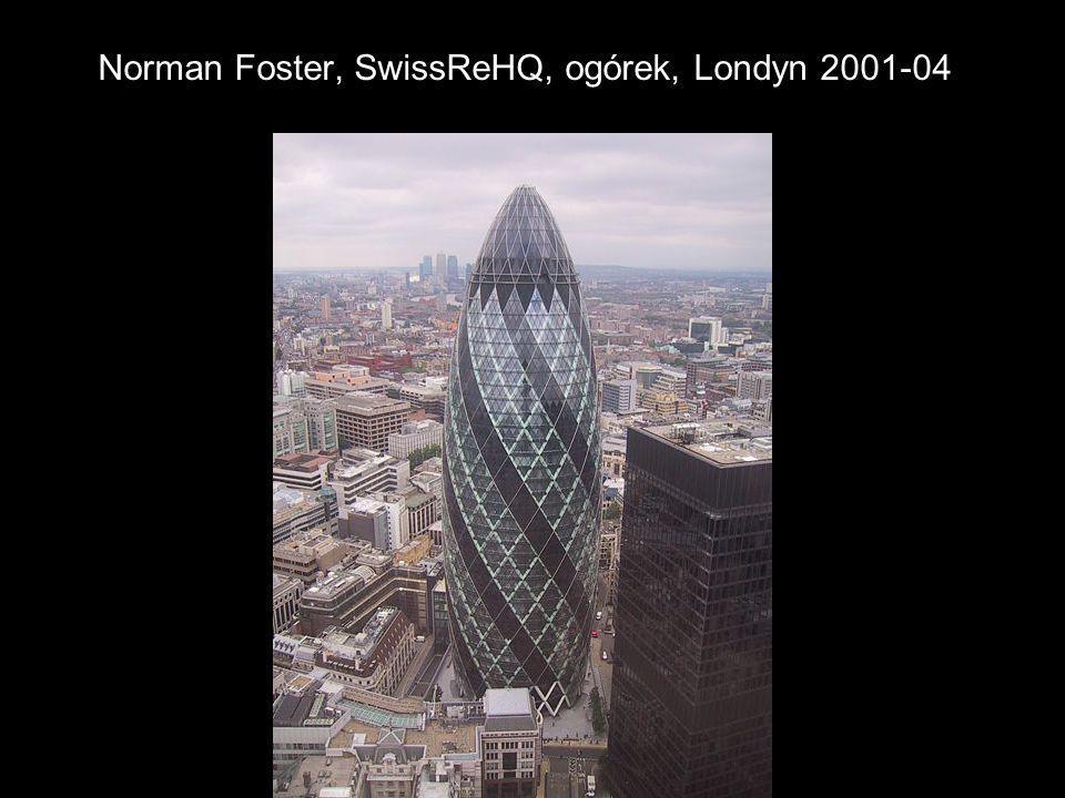 Norman Foster, SwissReHQ, ogórek, Londyn 2001-04