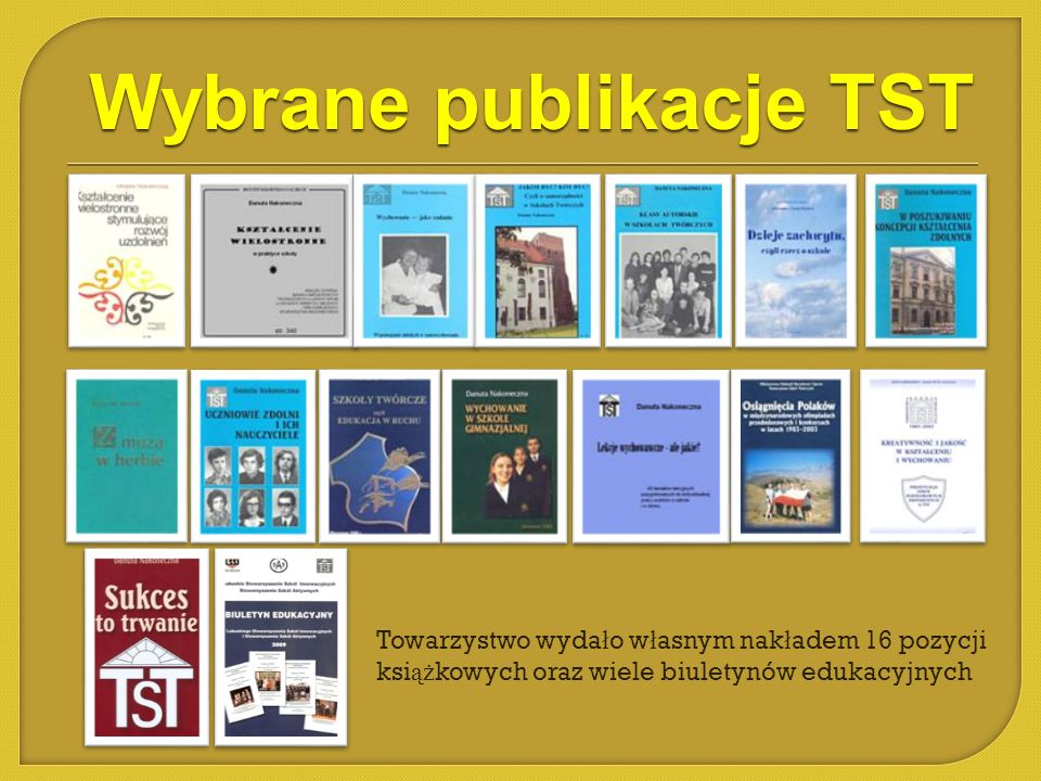 Wybrane publikacje TST