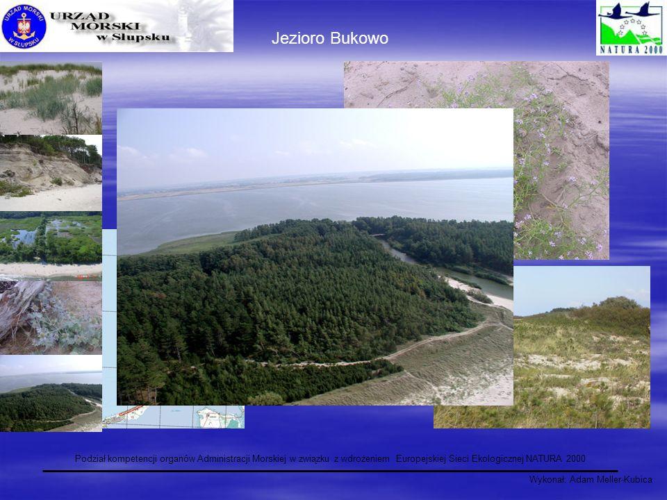 Jezioro Bukowo Podział kompetencji organów Administracji Morskiej w związku z wdrożeniem Europejskiej Sieci Ekologicznej NATURA 2000.