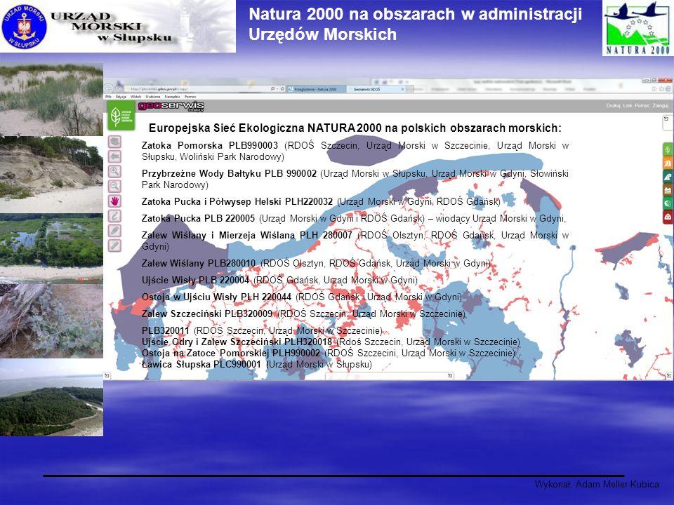 Natura 2000 na obszarach w administracji Urzędów Morskich