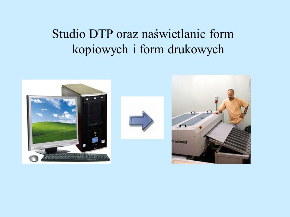 Studio DTP oraz naświetlanie form kopiowych i form drukowych