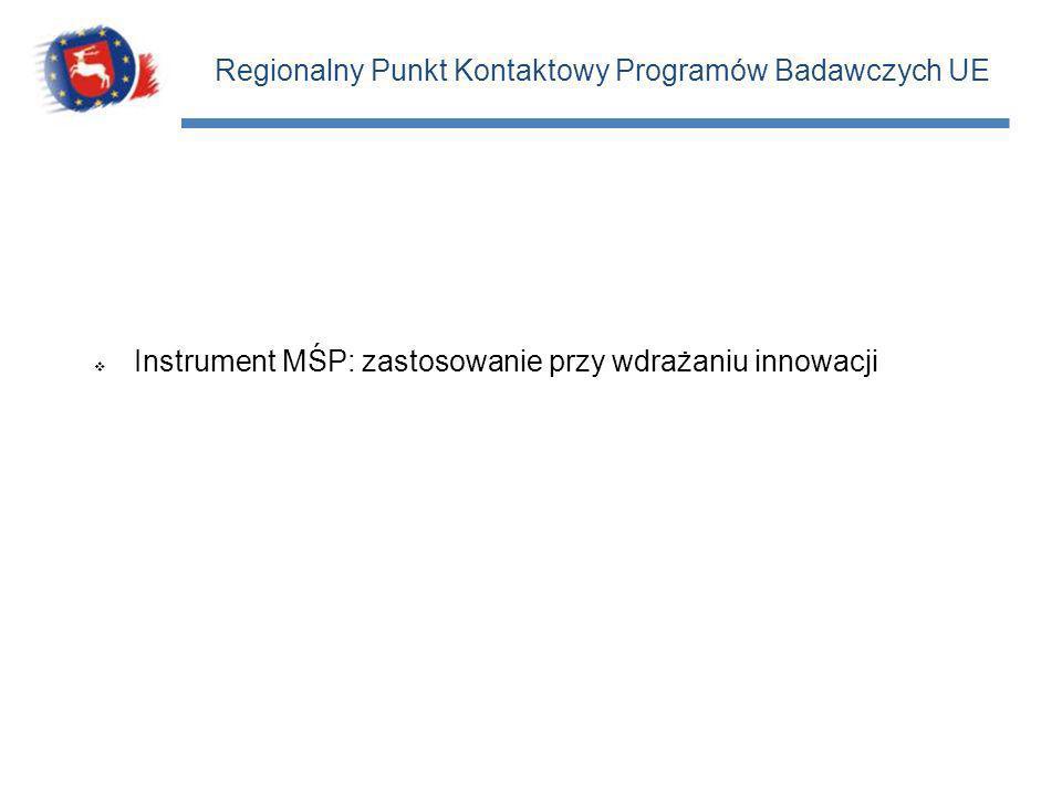 Instrument MŚP: zastosowanie przy wdrażaniu innowacji