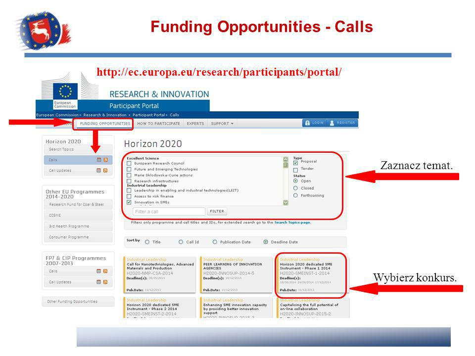 Funding Opportunities - Calls