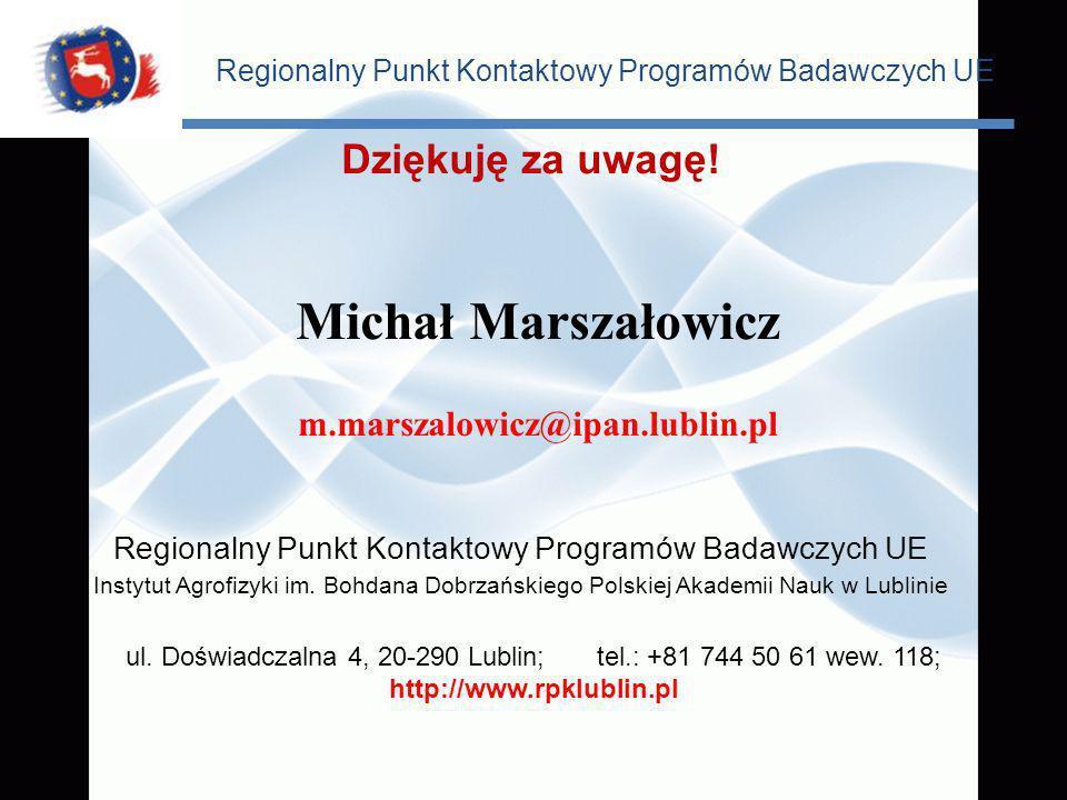 Michał Marszałowicz Dziękuję za uwagę! m.marszalowicz@ipan.lublin.pl