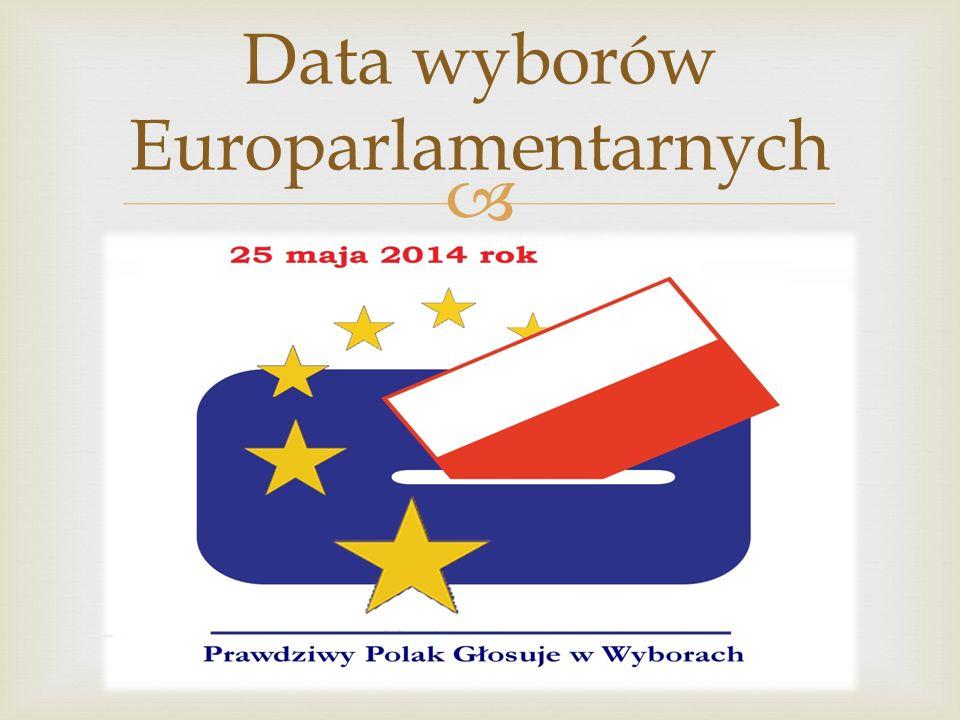 Data wyborów Europarlamentarnych