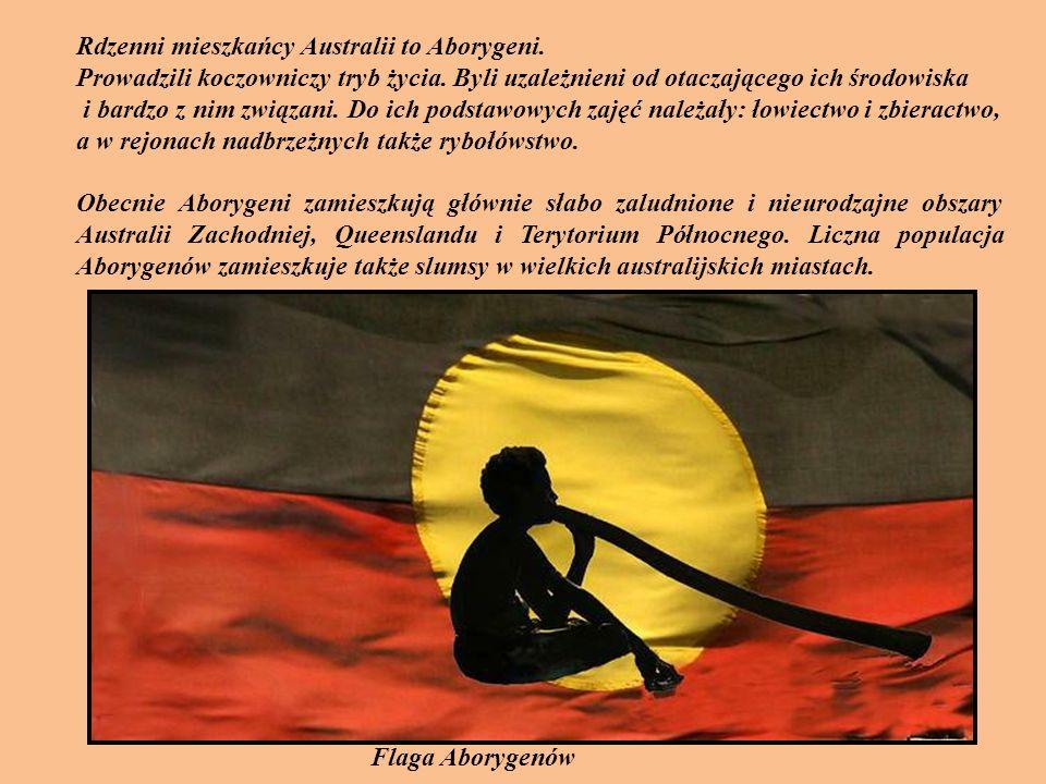 Rdzenni mieszkańcy Australii to Aborygeni.