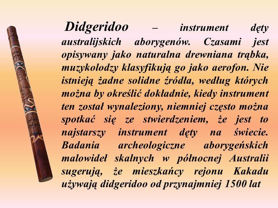 Didgeridoo – instrument dęty australijskich aborygenów