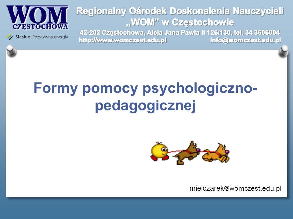 Formy pomocy psychologiczno-pedagogicznej