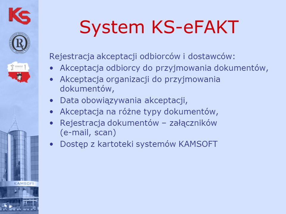 System KS-eFAKT Rejestracja akceptacji odbiorców i dostawców: