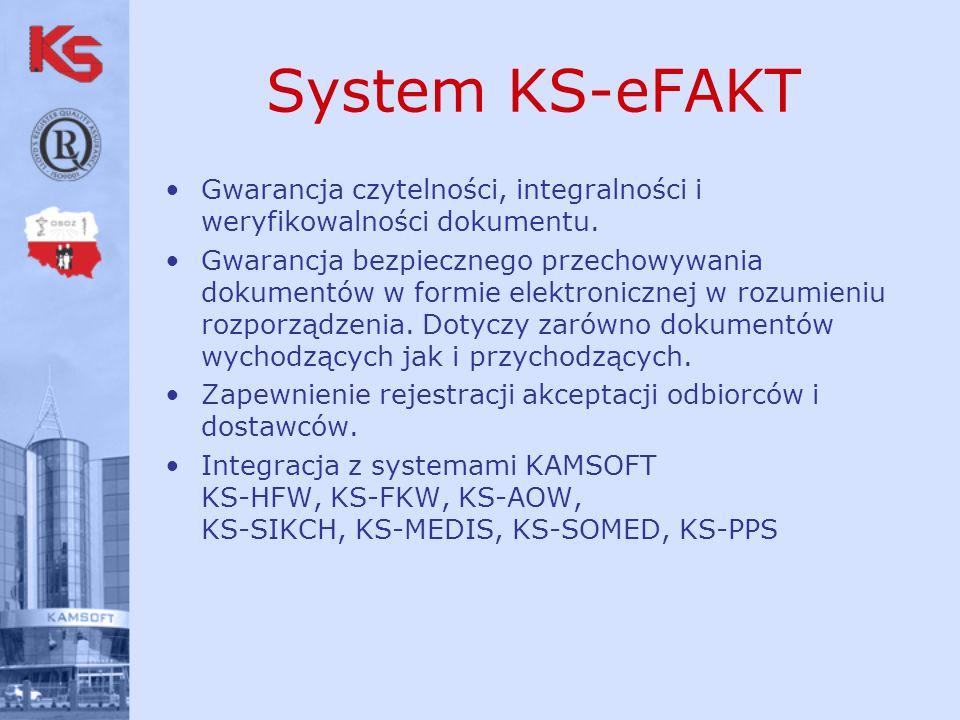 System KS-eFAKT Gwarancja czytelności, integralności i weryfikowalności dokumentu.