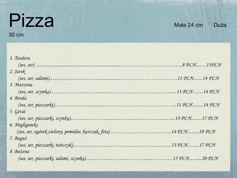 Pizza Mała 24 cm Duża 30 cm