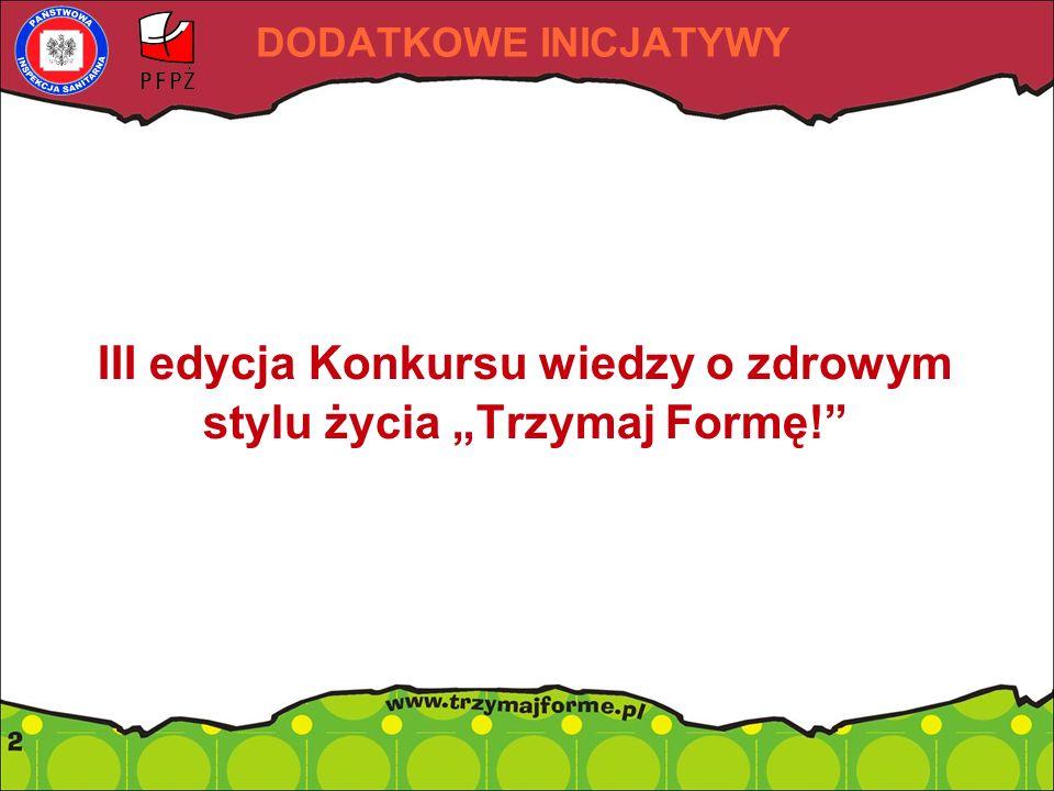 """III edycja Konkursu wiedzy o zdrowym stylu życia """"Trzymaj Formę!"""