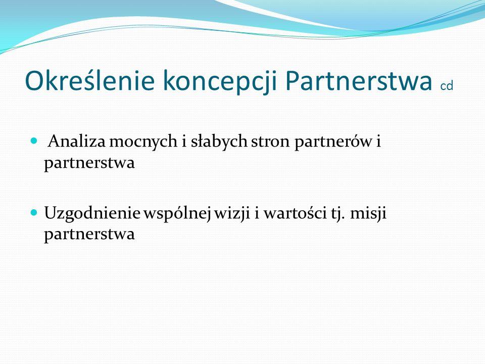 Określenie koncepcji Partnerstwa cd