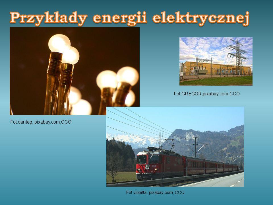 Przykłady energii elektrycznej