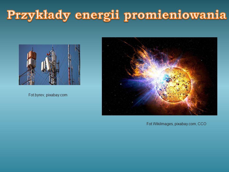 Przykłady energii promieniowania