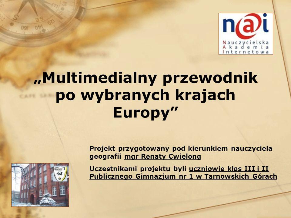 """""""Multimedialny przewodnik po wybranych krajach Europy"""