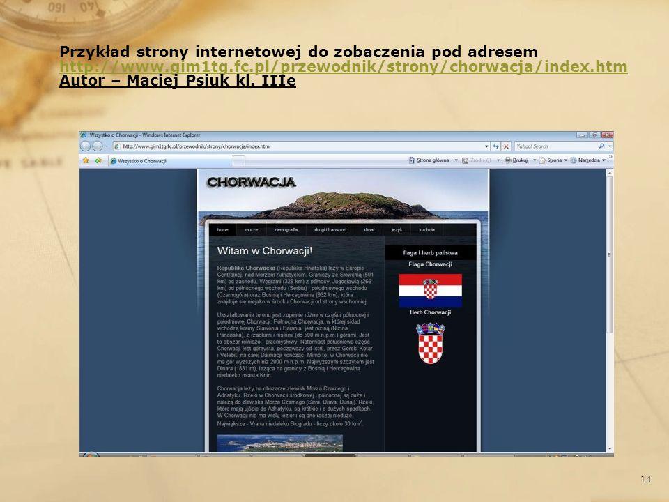 Przykład strony internetowej do zobaczenia pod adresem http://www