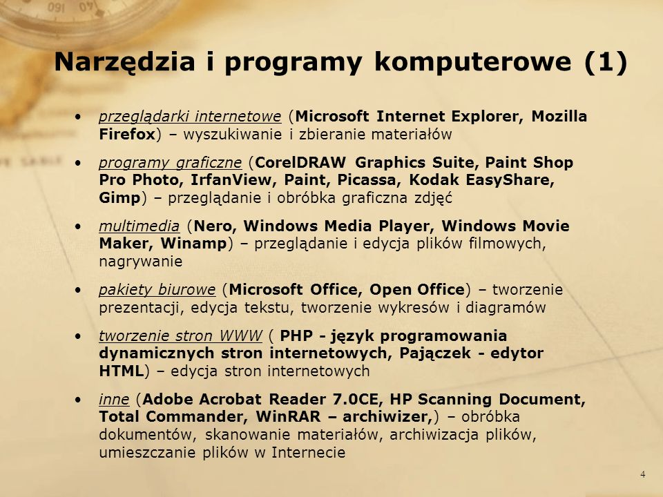 Narzędzia i programy komputerowe (1)