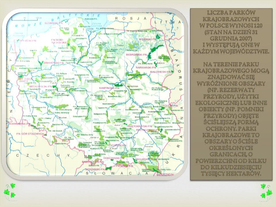 Liczba parków krajobrazowych w Polsce wynosi 120 (stan na dzień 31 grudnia 2007) i występują one w każdym województwie.