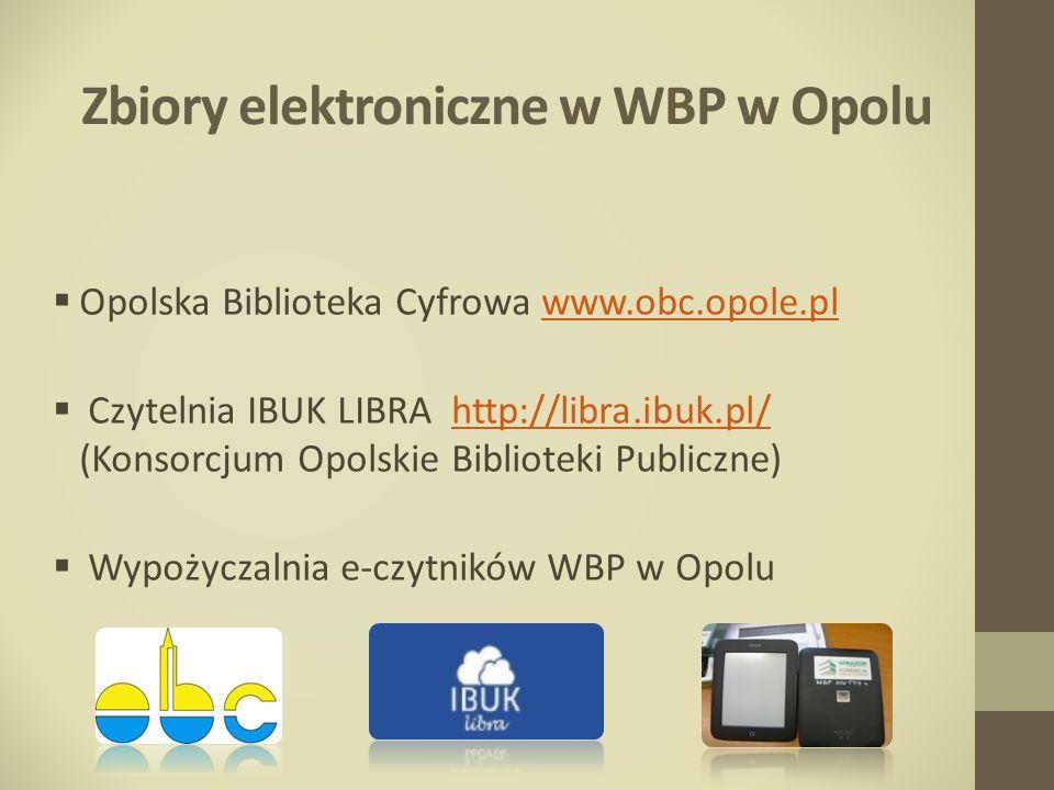 Zbiory elektroniczne w WBP w Opolu