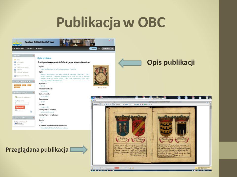 Publikacja w OBC Opis publikacji Przeglądana publikacja