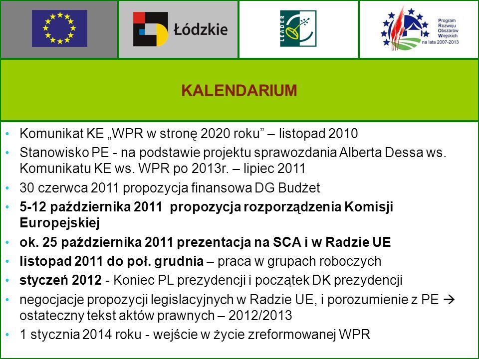 """KALENDARIUM Komunikat KE """"WPR w stronę 2020 roku – listopad 2010"""