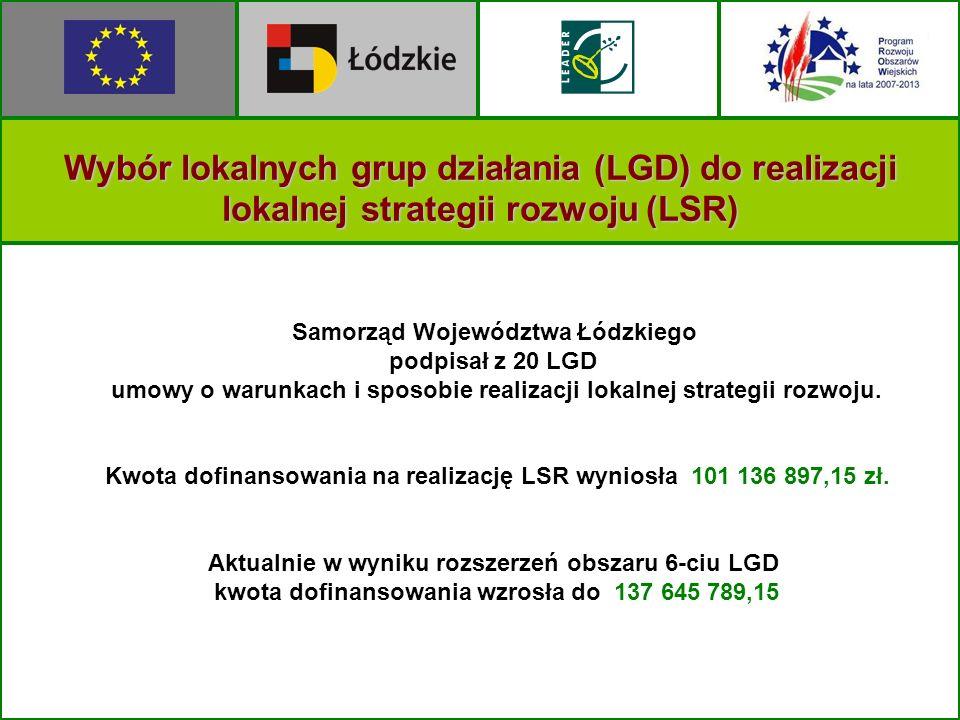Wybór lokalnych grup działania (LGD) do realizacji lokalnej strategii rozwoju (LSR)