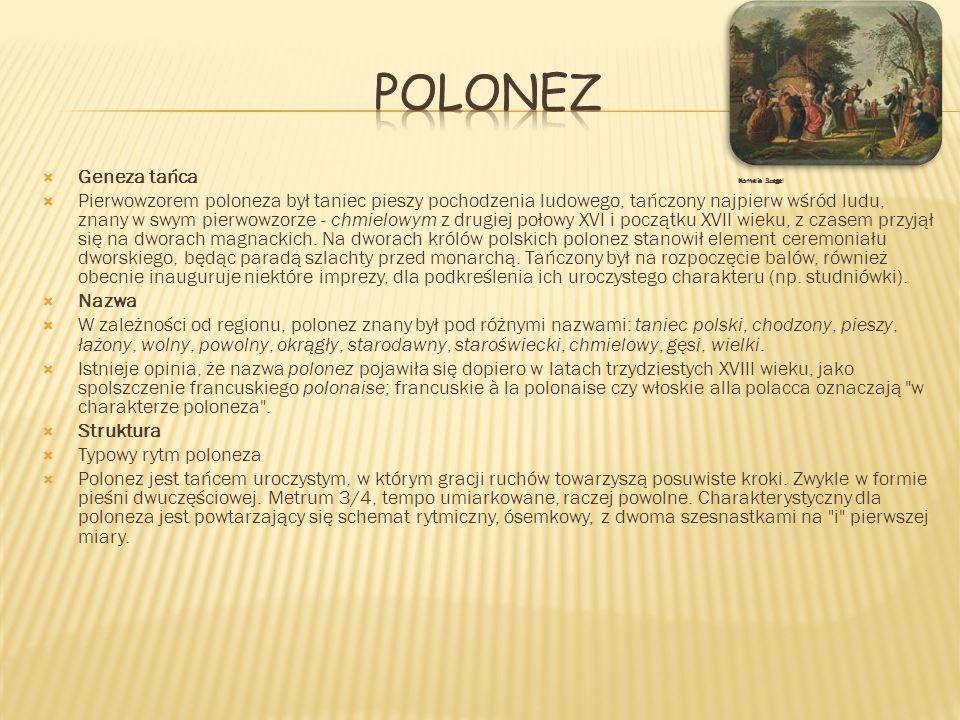 Polonez Geneza tańca Kornelia Szegel