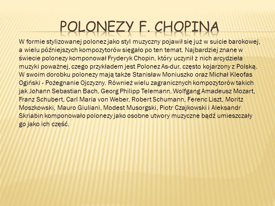 Polonezy F. Chopina