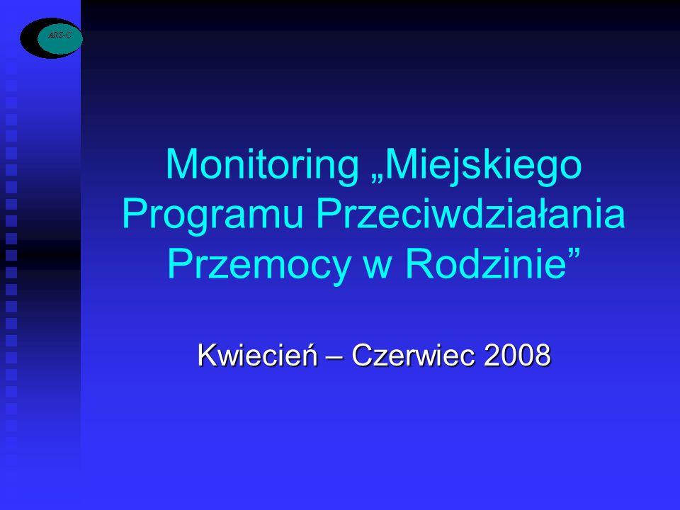 """Monitoring """"Miejskiego Programu Przeciwdziałania Przemocy w Rodzinie"""