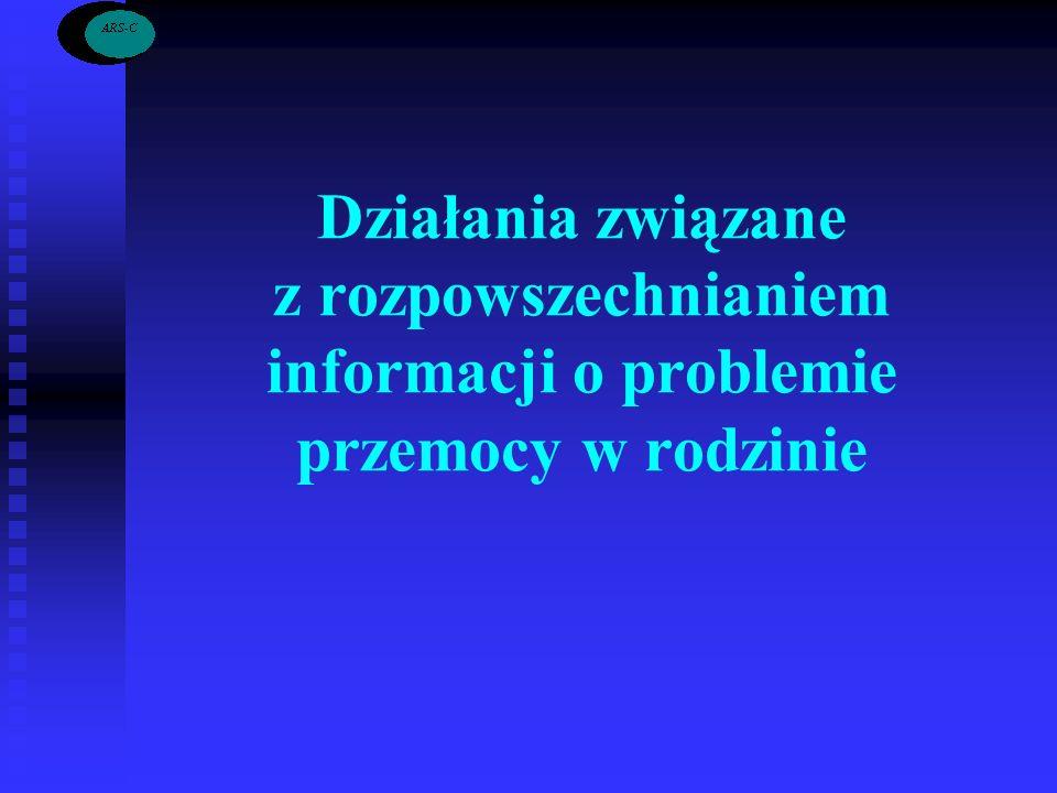 Działania związane z rozpowszechnianiem informacji o problemie przemocy w rodzinie