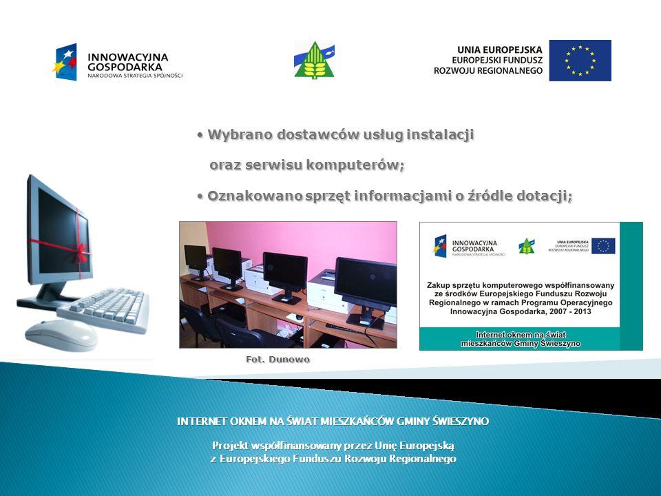Wybrano dostawców usług instalacji oraz serwisu komputerów;