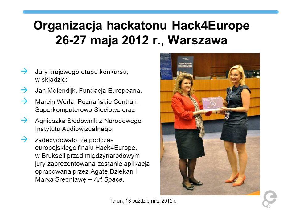 Organizacja hackatonu Hack4Europe 26-27 maja 2012 r., Warszawa