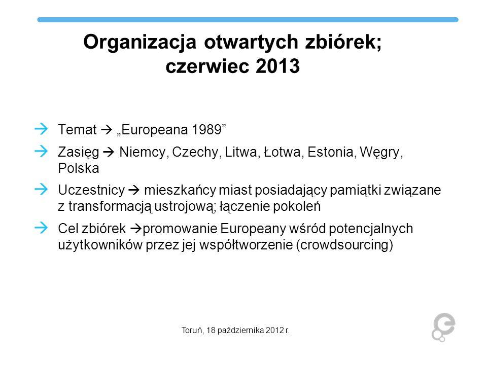 Organizacja otwartych zbiórek; czerwiec 2013