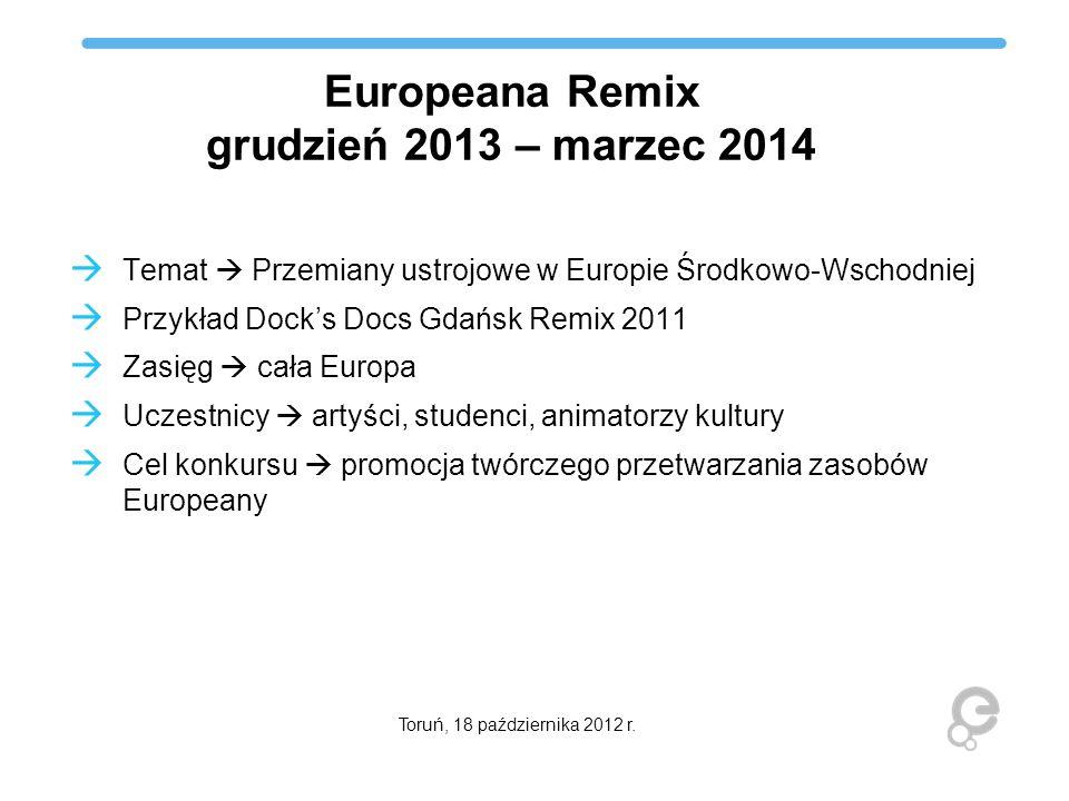 Europeana Remix grudzień 2013 – marzec 2014