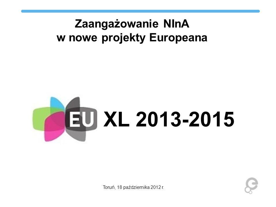 Zaangażowanie NInA w nowe projekty Europeana